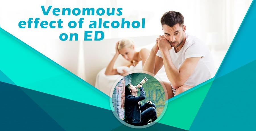 Venomous effect of alcohol on ED